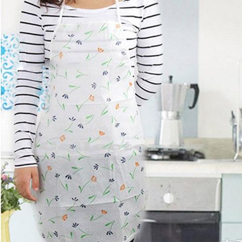 韓版可愛時尚印花防水成人圍裙 懶人拋棄式圍裙 家居廚房露營必備