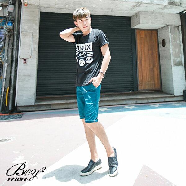 ☆BOY-2☆【ND5470】短袖T恤休閒潮流色塊條紋飛機印花短T 2