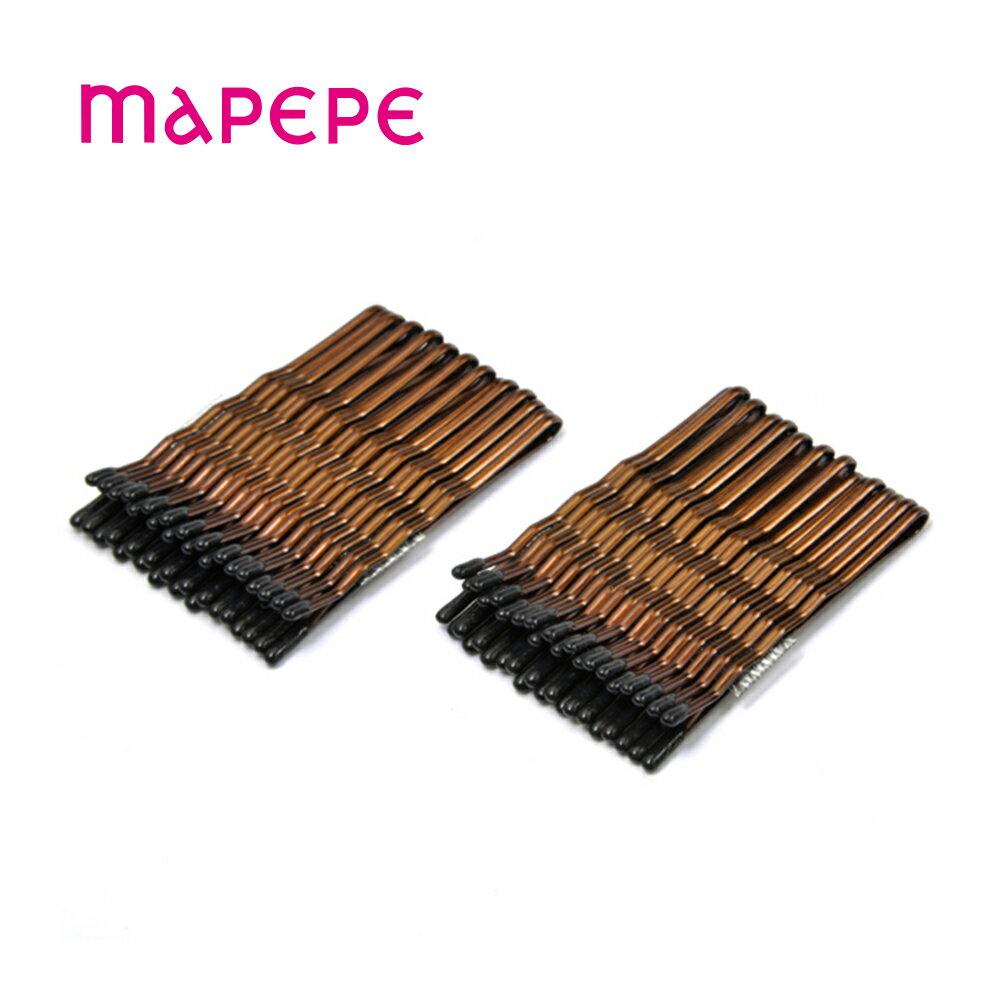 mapepe 便利髮夾/波浪咖啡色短毛夾  (858743)