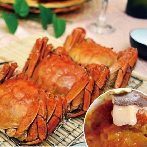 台灣首創魚菜共生大閘蟹6隻