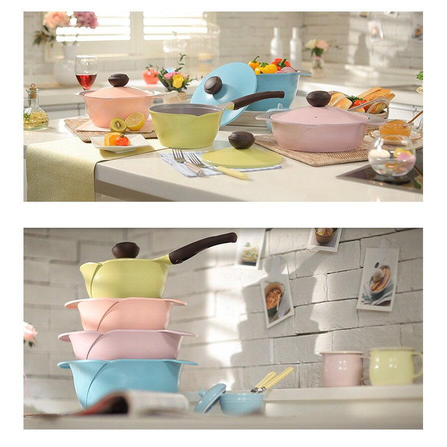韓國 Chef Topf薔薇系列26公分不沾平底鍋(粉色)/韓國製造/不沾鍋/洗碗機用/最美鍋 3
