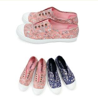 【Mystyle】富發牌1BYT01美麗花卉休閒鞋(藍花.粉花)23-25.5號-任兩雙免運