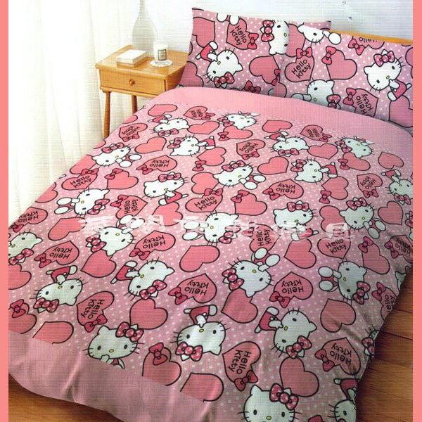 *華閣床墊寢具暢貨批發中心*《HLEEO KITTY-粉紅佳人》雙人兩用被套  台灣三麗鷗授權 MIT