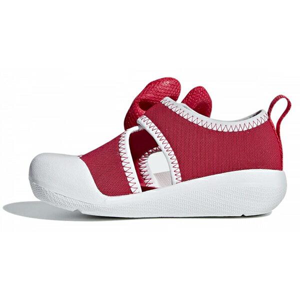 Shoestw【F35866】ADIDAS 涼鞋 AltaVenture Minnie 運動涼鞋 護趾涼鞋 童鞋 中童鞋 黏帶 迪士尼 米妮 蝴蝶結 桃紅白 2