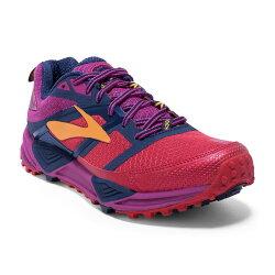 【BROOKS】18SS 緩衝型  女越野鞋 Cascadia 12系列 B楦 1202331B644 送壓縮腿套【樂買網】
