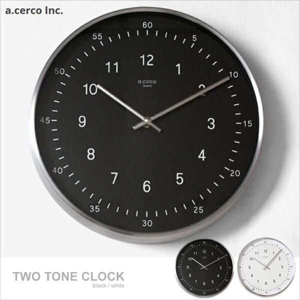 E&J【019002】a.cercoTWOTONEClock掛鐘時鐘鬧鐘loft風