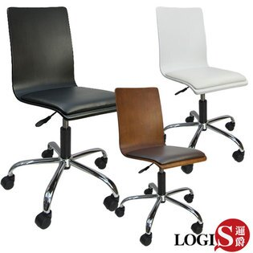 LOGIS邏爵~和風曲木皮墊事務椅電腦椅*020B*