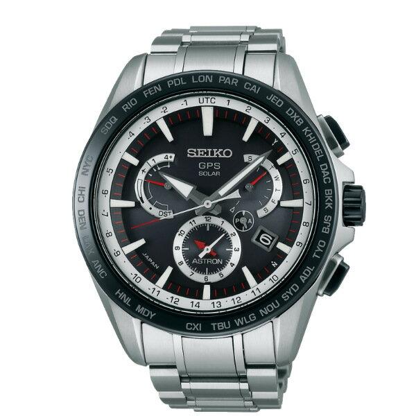 Seiko Astron 8X53-0AD0D(SSE051J1)時尚紳士太陽能GPS校時腕錶/黑面44.6mm