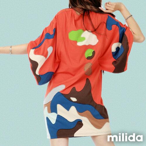 【Milida,全店七折免運】五分袖寬鬆舒適洋裝 4