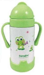 【淘氣寶寶】47折!Dooby大眼蛙神奇保溫喝水杯260cc綠色粉色D4181(頂級316不繡鋼)