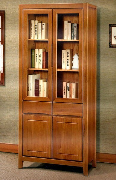 【尚品家具】606-31 南洋檜木實木3尺書櫃書櫥收納櫃~台灣製造《台中多區免運》