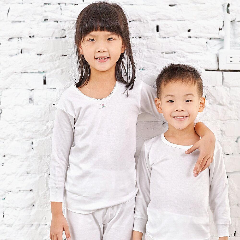 【Gunze郡是】原裝進口-兒童100%純棉女童長袖(100cm~160cm) 3