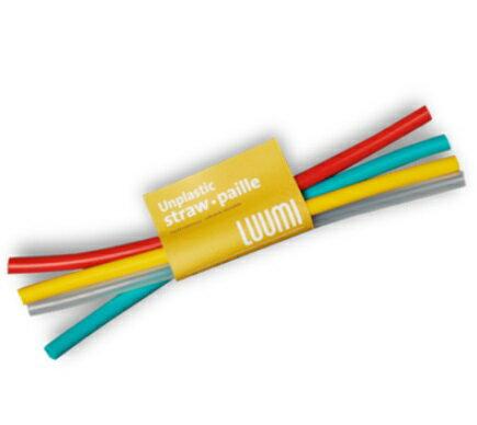 【【蘋果戶外】】LUUMI Straws【吸管組】加拿大 100%白金矽膠 吸管組4入一組 環保吸管