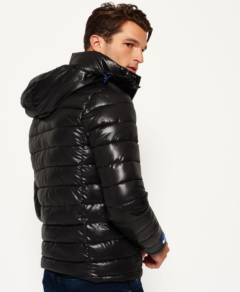 [男款]英國代購 極度乾燥 superdry Fuji 男士保暖 雙拉鍊漆皮休閒雪地加厚夾克外套 黑色 2