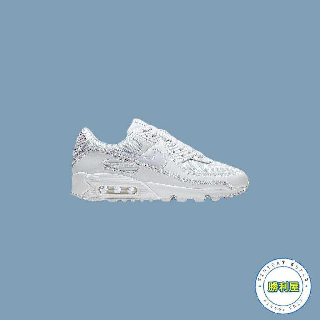 【NIKE】NIKE WMS AIR MAX 90 TWIST 女鞋 全白 復古 氣墊 增高 特價下殺 CV8110-100【勝利屋】