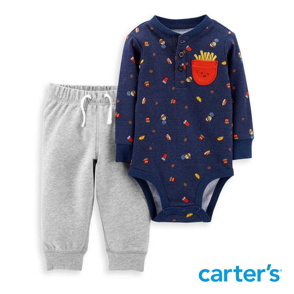 Carter's 薯條印圖2件組套裝 - 限時優惠好康折扣