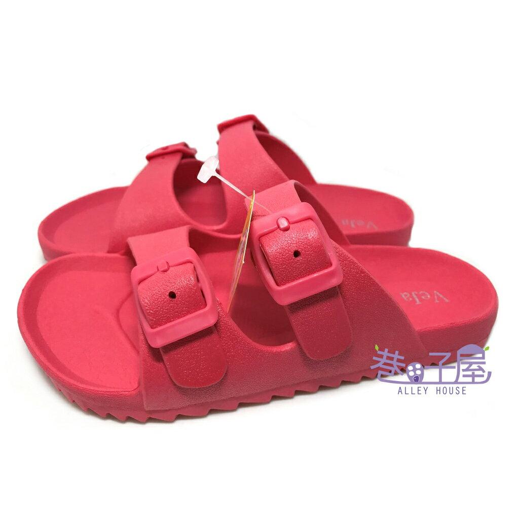 【巷子屋】童款一體成型防水勃肯拖鞋 桃色 MIT台灣製造 [2616] 超值價$198