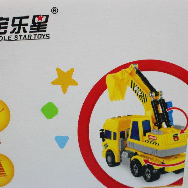 寶樂星 6871 音效摩輪挖掘車(附電池) / 一台入 { 促350 }  會說故事的怪手車~生6871 4