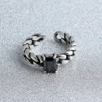 ~925純銀戒指瑪瑙開口戒~ 編織 精美生日情人節 女飾品73gp41~ ~~米蘭 ~