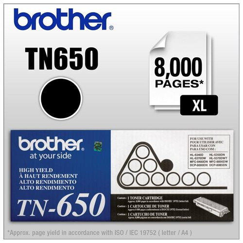 Brother TN-650 Toner Cartridge - New Cartridge 0
