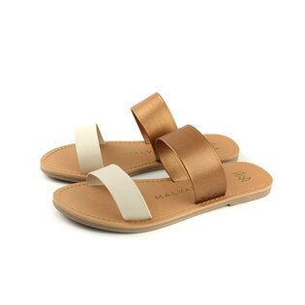 MALVADOSICON經典系列涼鞋拖鞋白古銅女鞋3005-1741no013