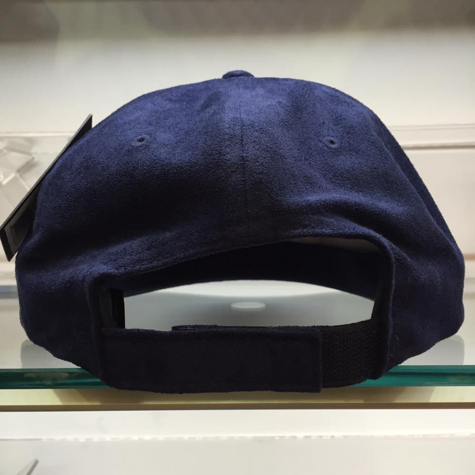 BEETLE STUSSY SMOOTH STOCK VELCRO CAP 深藍 絨布 棒球帽 LOGO 素面 刺繡 2