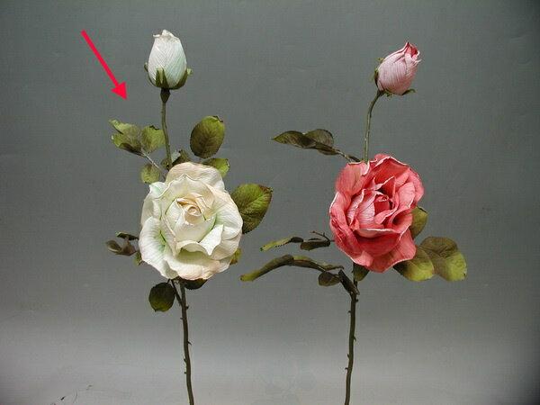 ★超低價★1花1苞 古典玫瑰-乳白 / 人造花 空間 景觀 佈置 造景