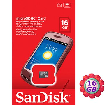 原廠包裝 SanDisk 16GB 16G microSDHC【C4】microSD micro SDHC 記憶卡 手機記憶卡
