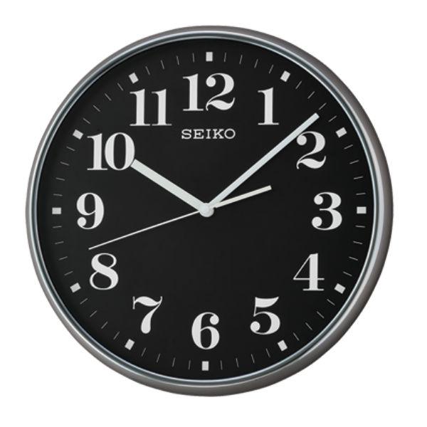 Seiko 精工鐘 (QXA697K) 優雅風格阿拉伯數字黑白標準鐘/35*4.5cm