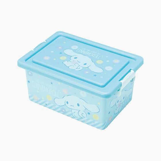 【真愛日本】16091000042方形收納箱S-CN花朵藍三麗鷗家 喜拿狗 大耳狗 收納盒置物日用品