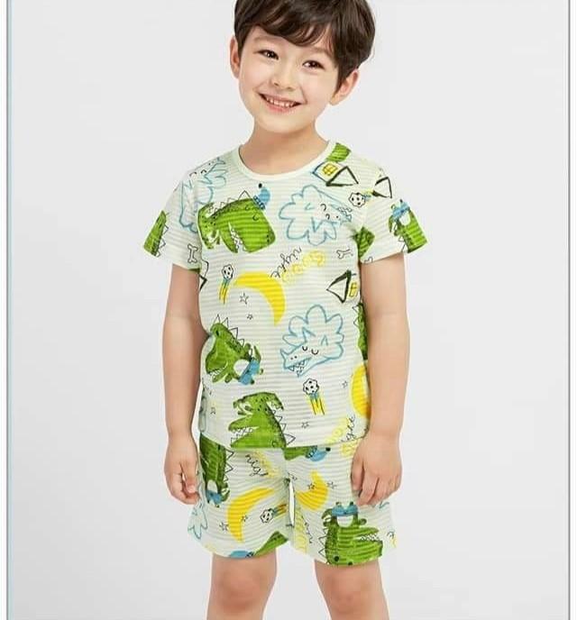 (預購)正韓國純棉 Mellisse兒童居家服春夏款(三分袖)90-150cm 芒果姐姐童裝屋