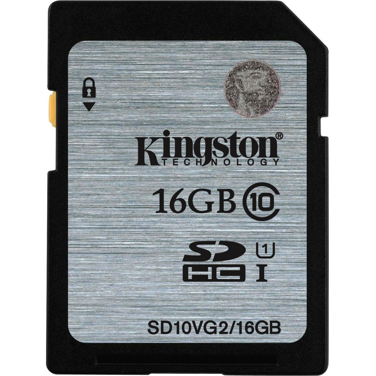 Kingston 16GB SDHC 45MB/s UHS-I U1 Class 10 16G SD C10 full HD Flash Memory Card SD10VG2/16GB 0