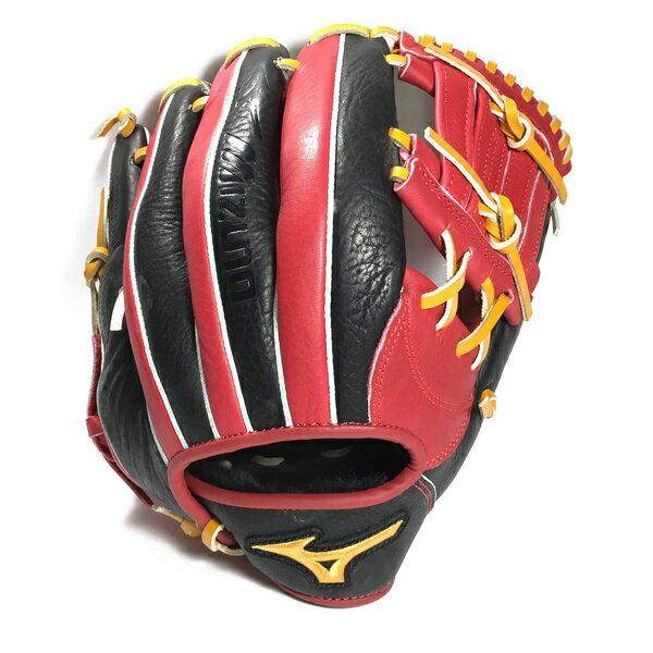 kixpress Mizuno Friendship [1ATGS50800] 壘球 手套 牛皮 工字型 內野 12吋 紅黑