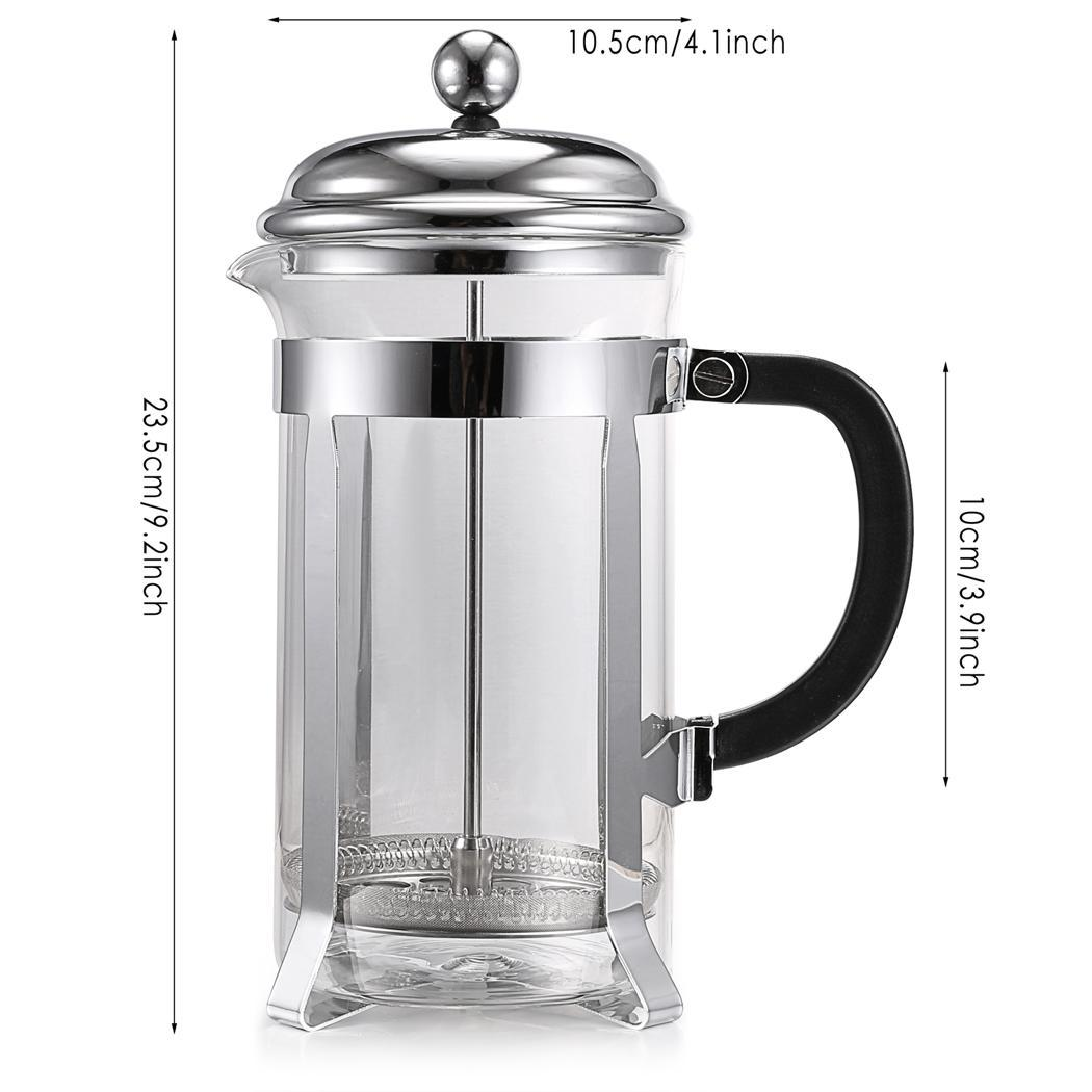 Stainless steel French coffee pot 1000ml 5