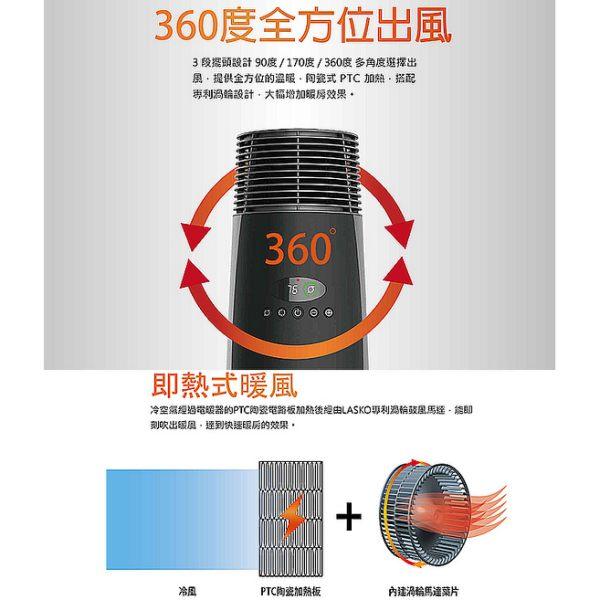 Lasko 黑塔之星 全方位360度恆溫循環電暖器 1