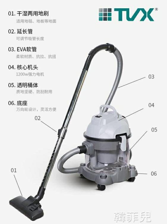 商用吸塵器 特沃斯吸塵器V20工廠車間干濕兩用桶式強力吸塵器家用 MKS