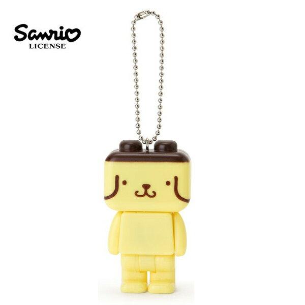 【日本正版】布丁狗積木造型手電筒吊飾PomPomPurin三麗鷗Sanrio-616802