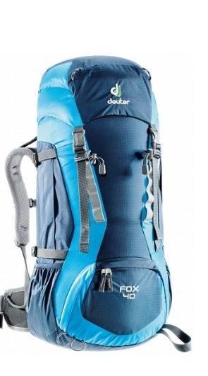 元禾〉德國 Deuter FOX 40+4L 防潑水輕量拔熱透氣背包 36083 藍/深藍