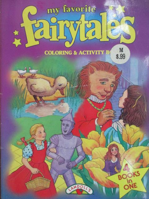 【書寶二手書T9/語言學習_YKG】My favorite fairytales_Coloring...