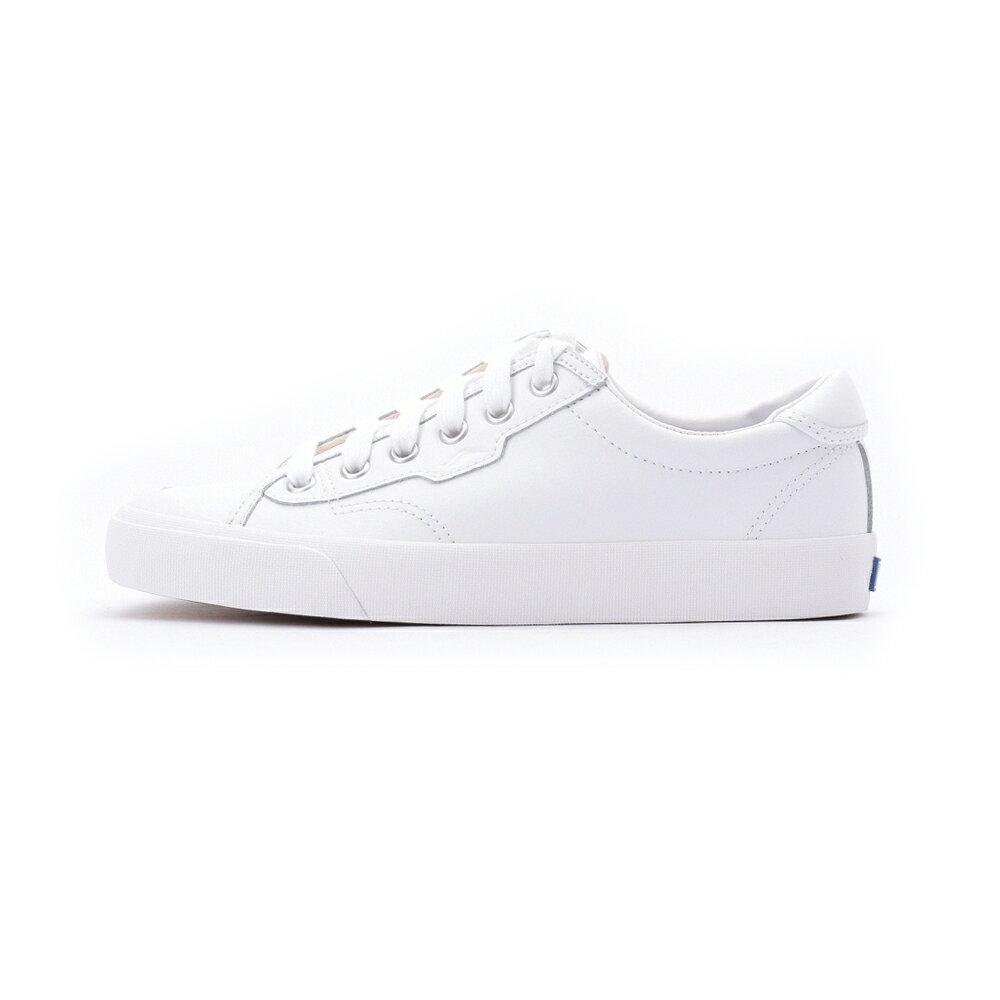 KEDS CREW KICK 經典半月皮革綁帶休閒鞋 白 9202W122930 女鞋