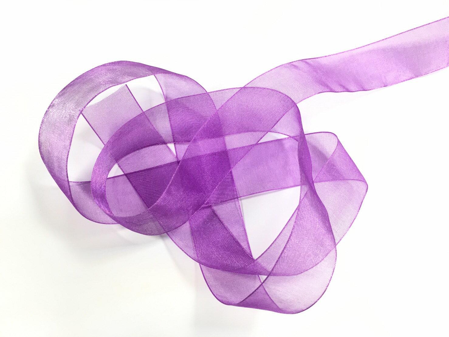 【Crystal Rose緞帶專賣店】光澤網紗緞帶 3碼裝 (10色) 1