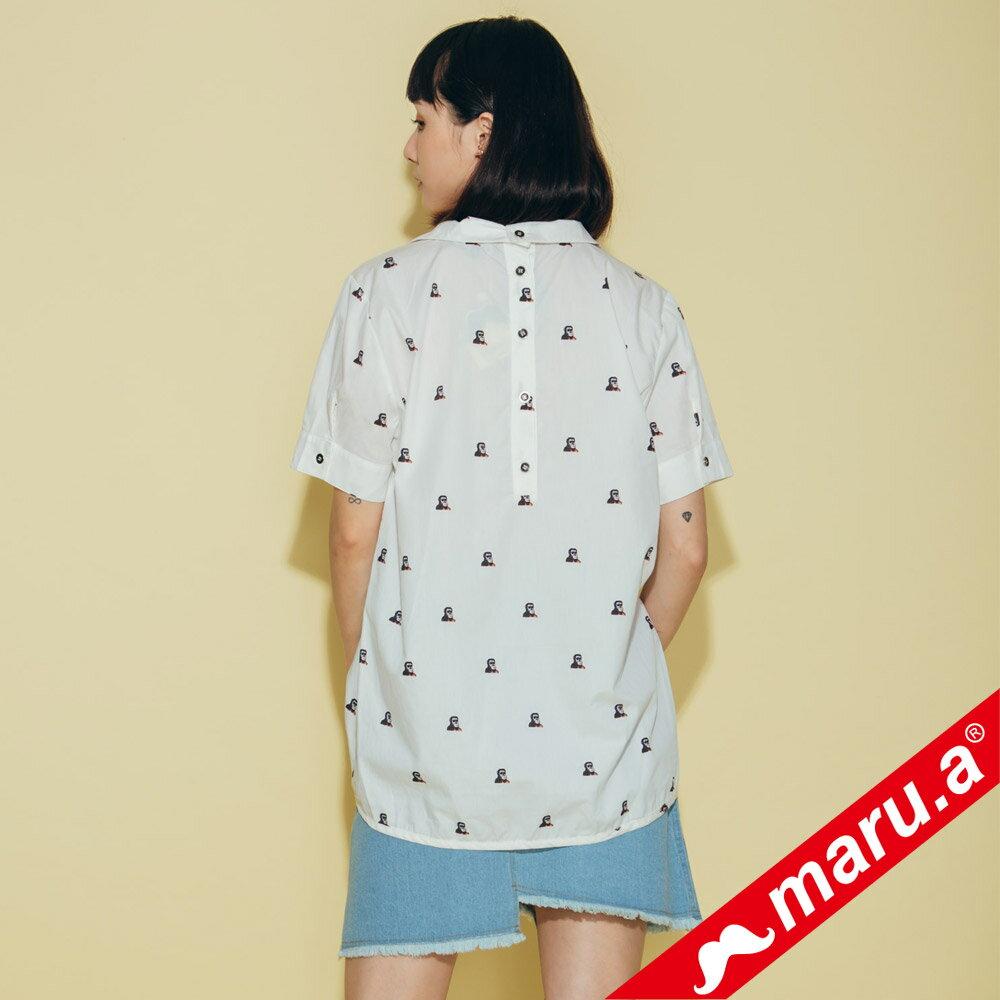 【maru.a】領子刺繡滿版印花襯衫(2色)8323118 4