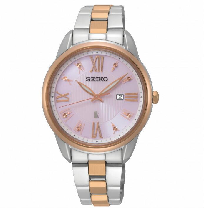 Seiko 精工錶 V137-0DC0KS(SUT362J1)LUKIA廣告款花漾時光太陽能腕錶 / 粉面 33mm - 限時優惠好康折扣