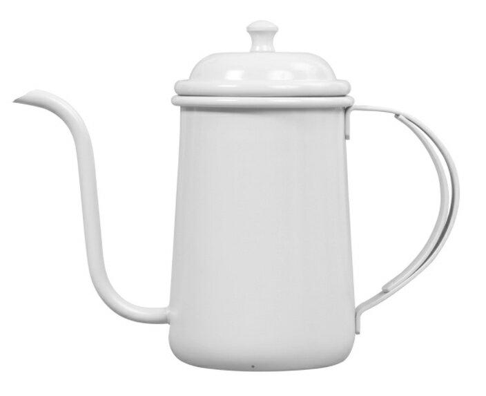 金時代書香咖啡 正晃行 AKIRAKOKI 馬卡龍色不銹鋼細口手沖壺 白色 C9-WH