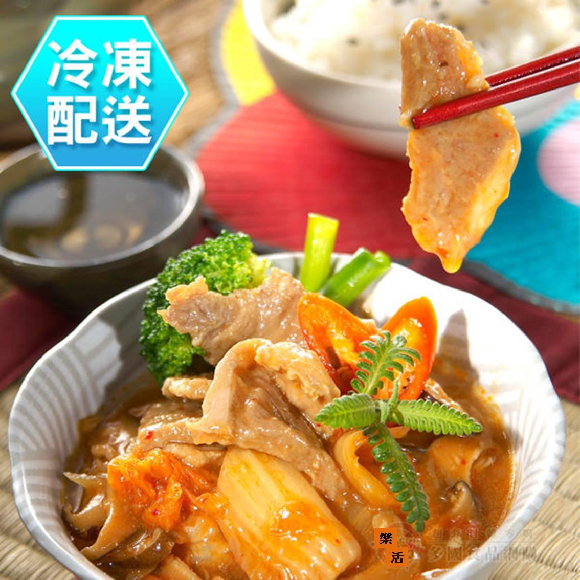 樂活生活館   韓式泡菜燒珍肉(2人份)300g 冷凍配送   蔗雞王