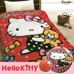 【名流寢飾家居館】Hello Kitty.小熊寶貝.凱蒂貓.法萊絨.法蘭絨.暖暖被