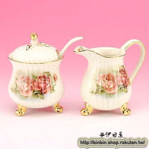 黃金玫瑰奶精糖罐組/玫瑰系列/857-027