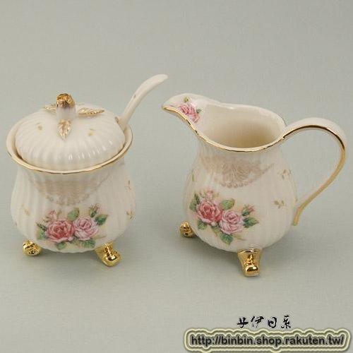 茱麗葉玫瑰奶精罐+糖罐組/玫瑰系列/857-033