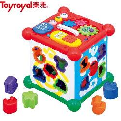 日本【ToyRoyal 樂雅】聲光積木六面盒(18~36個月)