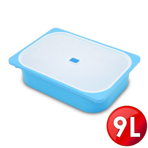 WallyFun 卡拉亮彩掀蓋儲物盒 -9L (藍/綠/白/橘/紅)